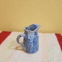 Váza bielo modrá