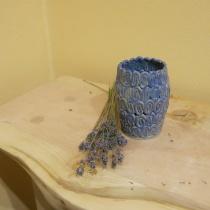 Váza modrá slimák